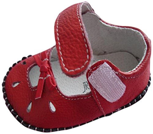 Jiazibb 100% Cow Leather Baby Girl Baby Toddler Soft Bottom Indoor Crib First Walkers Sandals Shoes (Insole Length:120mm EUR 18, (120 Mm Sandals)