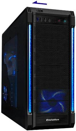 CiT Galaxy EVO - Caja de Ordenador de sobremesa (ATX/mATX/ITX, 3 x 5.25/6 x 3.5, USB 3.0, LED), Color Negro: Amazon.es: Informática