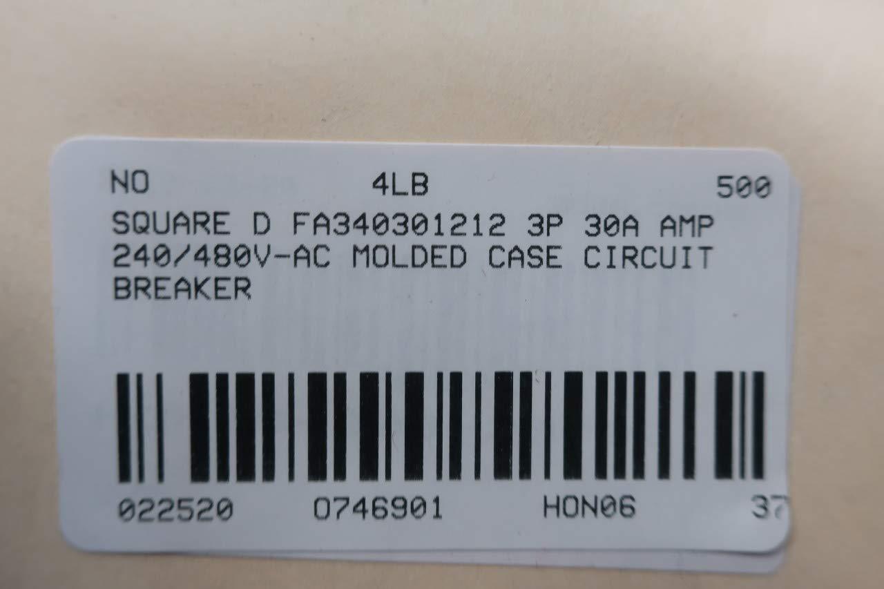 SQUARE D FA340301212 Molded CASE Circuit Breaker 3P 30A AMP 240//480V-AC
