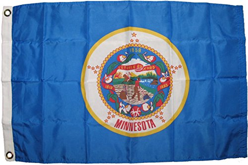 Premium Minnesota State Flag (3 By 5 Foot) - Large Flag With Brass Grommets - 100% Super Polyester Material - Perfect For Hanging Indoor/Outdoor (Rebel Flag Koozies)