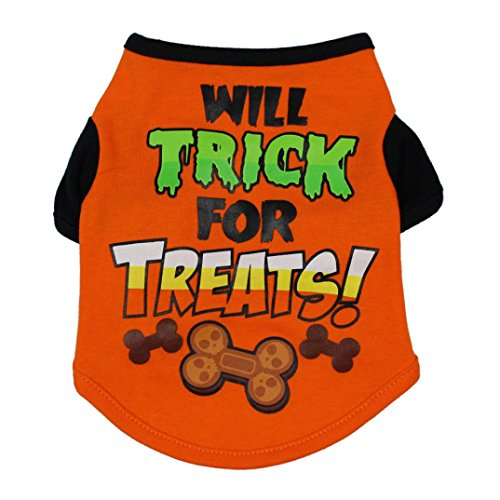 Wakeu Halloween Pet Shirt Small Dog Clothes Pet