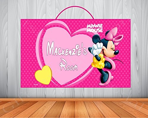 Personalized Minnie Mouse Sign, Minnie Mouse Personalized Wooden Name Sign, Minnie Mouse Room Decor, Minnie Mouse Birthday Gift, Wall Art