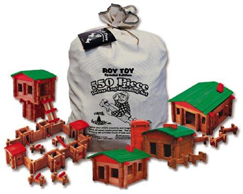 - Roy Toy 550 Pc. Log Building Set