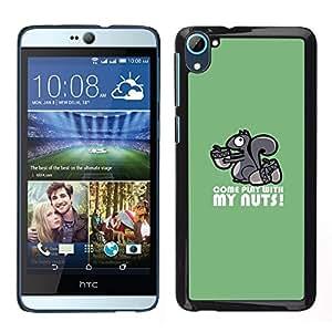 A-type Arte & diseño plástico duro Fundas Cover Cubre Hard Case Cover para HTC Desire D826 (Nutty Kinky Ardilla)
