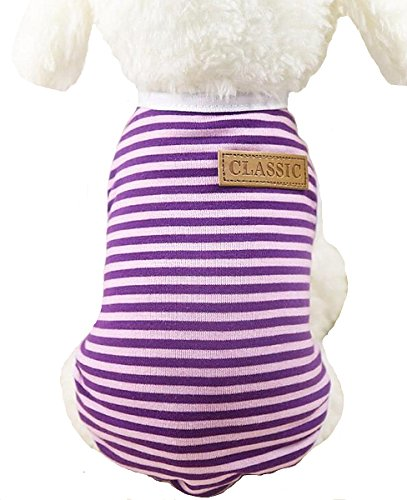 Sisha Summer Cotton Stripe Pet Vest Comfy Soft