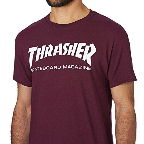 Mag Skate Thrasher Nero shirt Rosso T twPS00