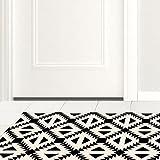 3D floor sticker home decor m black tiled kitchen study of anti-skid emulation wear floor surface (120x60cm)