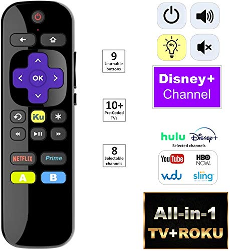 IKU All-in-1 Universal IR Remote for Built-in Roku TV and