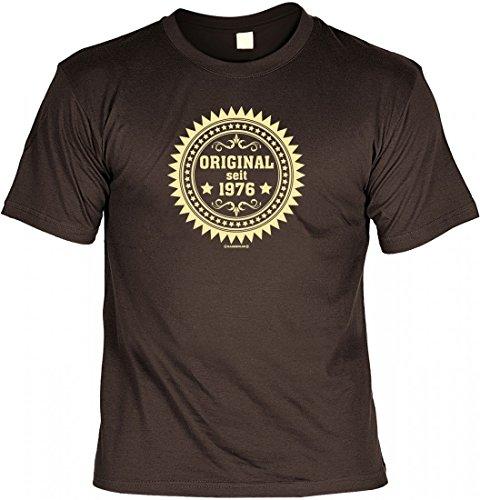 Birthday Shirt - Original seit 1976 - Lustiges T-Shirt als Geschenk zum Geburtstag - Braun