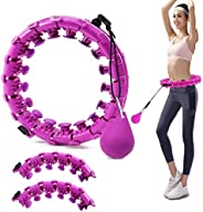 BODLRY 24 Pcs Weighted Hoola Hoop,TIKTOK Adjustable Pilates Circles, for Adults & Kids,Auto-Spinning Hula&