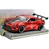 "JADA TOYS 1:24SCALE BIGTIME MUSCLE - WIDE BODY ""2016 CHEVROLET CAMARO SS""(CANDY RED) ジェイダトイズ 1:24スケール ビッグタイムマッスル - ワイドボディ 「2016 シボレー カマロ SS」(キャンディレッド) アメリカトイショップ限定!! [並行輸入品]"