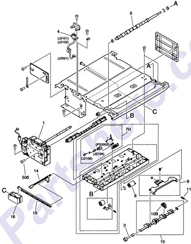 HP RG5-7164-000CN HP 5000/5100 OPTIONAL 500 SHEET UNIVERSAL PAPER TRAY