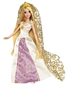 Mattel X3956 Princesas Disney - Muñeca Rapunzel vestida de novia con velo largo