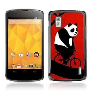 YOYOSHOP [Funny Bicycle Panda] LG Google Nexus 4 Case