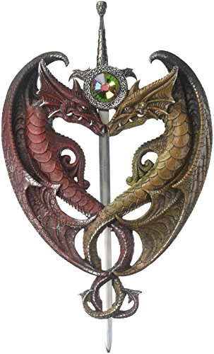 Zingz and Thingz Dueling Dragons Sword Wall Plaque (Dragon Plaque Wall)
