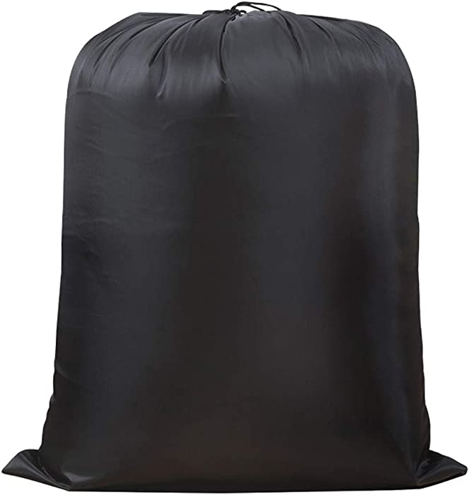 "IWEIK Multipurpose Black Extra Large Heavy Duty Laundry Bag Storage Bag (37""x47"")"
