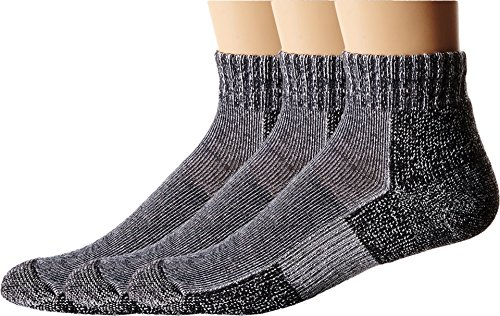 Thorlos Unisex Trail Running Mini Crew 3-Pair Pack Charcoal Socks XL (Men's Shoe 13-15)