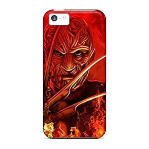 AlainTanielian Iphone 5c Scratch Resistant Hard Phone Cover Customized Realistic Freddy Krueger Image [cxt9552ISIa]