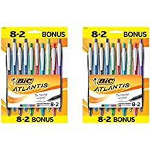 BIC Atlantis Original Ball Pens Fashion Medium Point (1.0mm), Blister, 20-Count