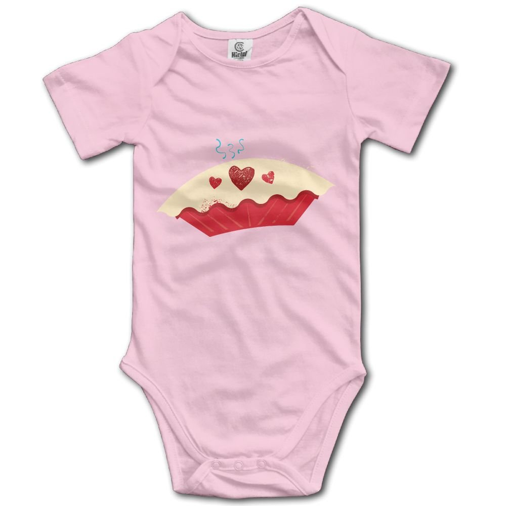 Baby Bodysuit Pie Heart Short Sleeves Triangle Romper Bodysuit Outfits Infant Toddler Clothes