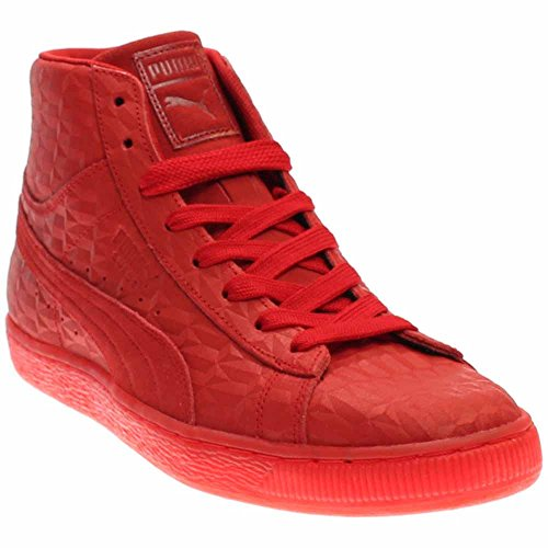 Puma Men's Suede Mid Me Iced High Risk Red/White Athletic...