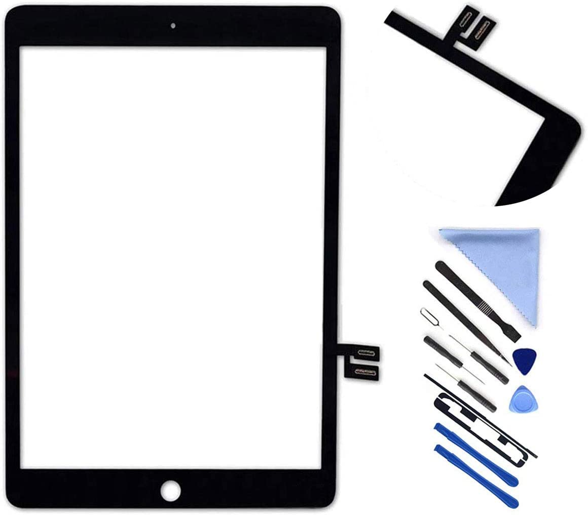 """First Choose Touch Screen Digitizer for iPad 7 2019 7th Gen 10.2"""" A2197 A2198 A2200 Front Glass Replacement with Pre-Installed Adhesive (Without Home Button,not Include LCD) + Tools (Black)"""