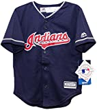 Cleveland Indians Alternate Navy Cool Base Toddler Jersey (3T)