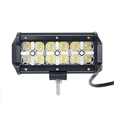 POWLAB Series F-S2 Models 36W COB LED Car Light Front Headlight Silver