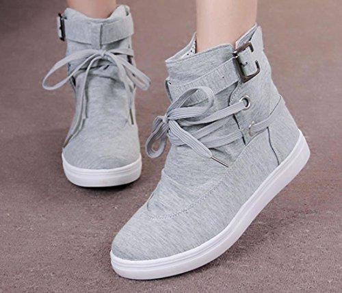 Scarpe YCMDM donne nel nuovo quadro cavaliere Martin scarpe stivali in pizzo tempo libero singoli , grey , 41
