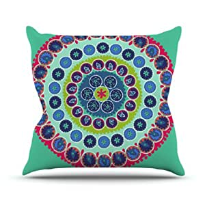 """Kess InHouse Laura Nicholson """"Surkhandarya"""" Outdoor Throw Pillow, 20 by 20-Inch"""