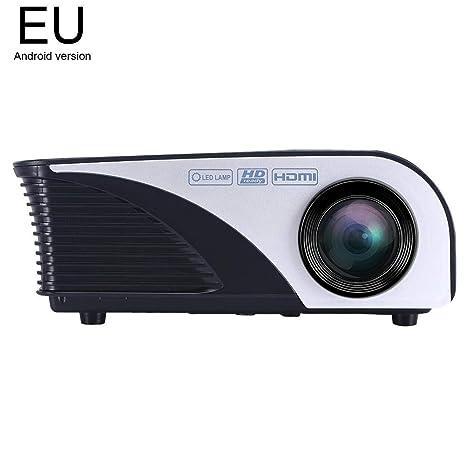 Mini proyector de 4 pulgadas, proyector de cine en casa compatible ...