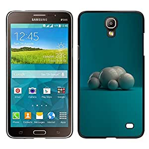 Caucho caso de Shell duro de la cubierta de accesorios de protección BY RAYDREAMMM - Samsung Galaxy Mega 2 - Perlas Blancas