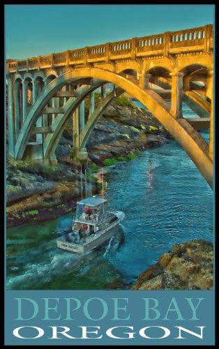 Northwest Art Mall Depoe Bay Oregon Bridge Unframed Prints by Nicholas Bielemeier, 11-Inch by - South Mall Bridge