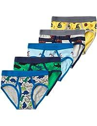 Little Boys 5-Pack Briefs Dinosaur Truck Kids Underwear