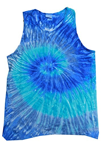 Colortone Tie Dye Tank Top SM Blue Jerry