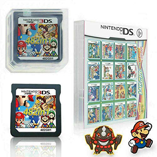 482 in 1 Game Cartridge Multicart, Game Pack Card Super Combo For Nintendo DS/NDS/NDSL/NDSi/3DS/2DS XL/LL