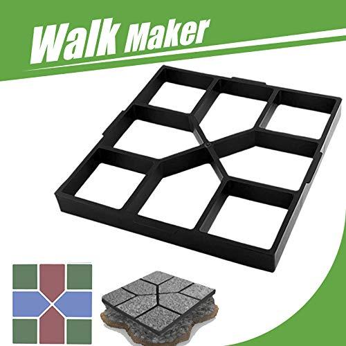 "15.7""x15.7""x1.57"" Concrete Molds Reusable Walk Maker Stepping Stone Path Maker Paver Yard Patio Lawn Garden DIY Walkway Pavement Paving Moulds (Square)"