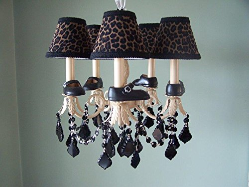 Silly Bear Lighting Lil Mama Mary Janes Chandelier with 5 Arms, Khaki