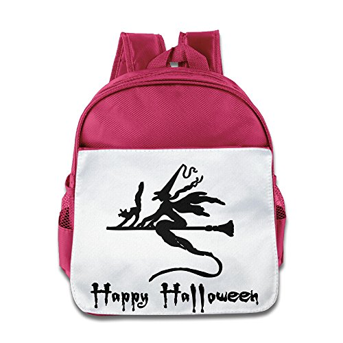 XJBD Custom Cool Halloween Kids School Bagpack For 1-6 Years Old Pink