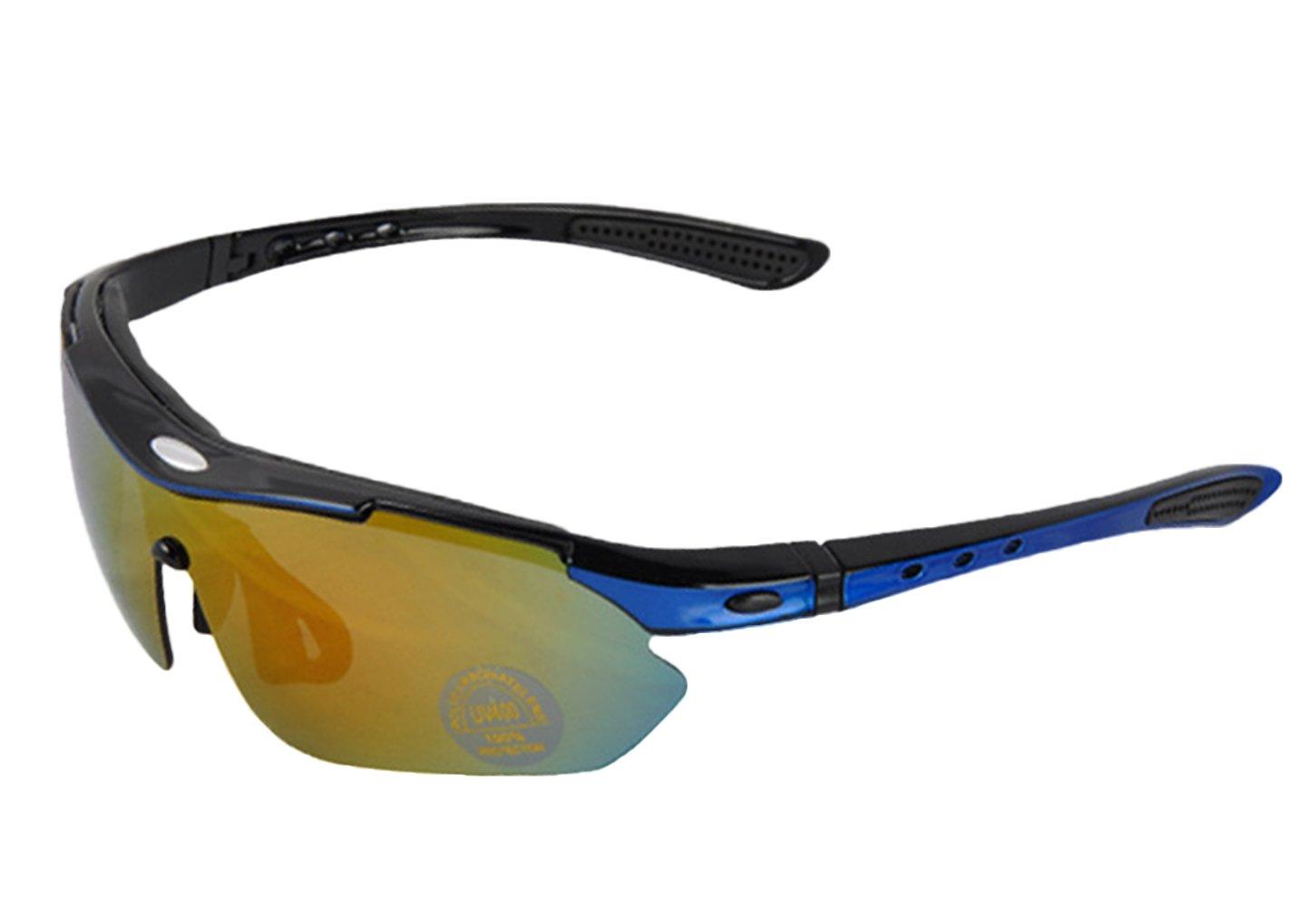 Insun Outdoor ciclismo sport occhiali da sole polarizzati 5Pack (4PC, lenti 1TAC), donna, Slivery
