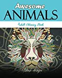 Awesome Animals: Adult Coloring Book