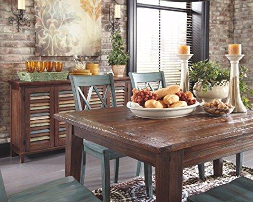 Ashley Furniture Signature Design – Mestler Dining Room Server – 2 Cabinet Serving Table – Dark Brown