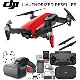 DJI Mavic Air Drone Quadcopter (Flame Red) + DJI Goggles FPV Headset (Racing Edition) VR FPV POV Experience Starters Bundle