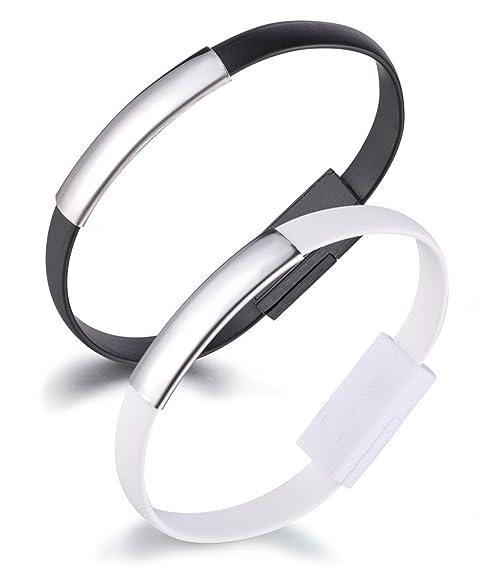 2 opinioni per Yumi Lok Bracciale cavo di ricarica USB cavo dati cavo Lightning per iPhone 7,
