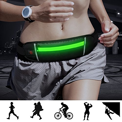 Bseen Running Belt Rechargeable Outdoor