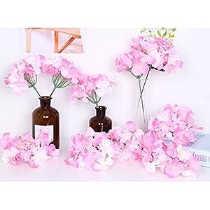 LI HUA CAT Artificial Flowers 10pcs Artificial Hydrangea Silk Centrepieces and Arrangement Real Touch Flowers for Home Decor Wedding Parties 79