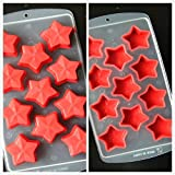 SET OF 3 Easy push Pop Out Ice Cube Trays with flexible silicone bottom (Ships From USA) (Stars)