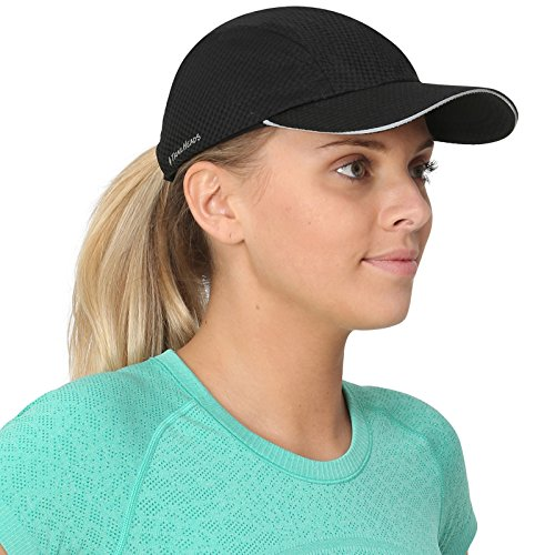 (TrailHeads Women's Race Day Running Cap-Performance Hat - Black)