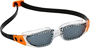 Aqua Sphere Kameleon Smoked Lens Swimming Goggles, Clear/Orange Frame