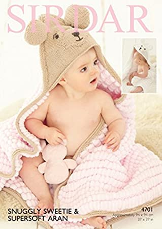 Sirdar Baby Teddy Bär Decke Sweetie Strickmuster 4701: Amazon.de ...